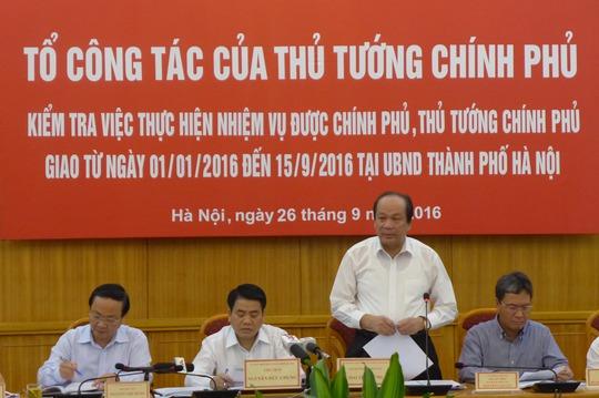 Bộ trưởng, Chủ nhiệm Văn phòng Chính phủ - Tổ trưởng Tổ công tác của Thủ tướng kiểm tra tại Hà Nội - Ảnh: Thế Dũng