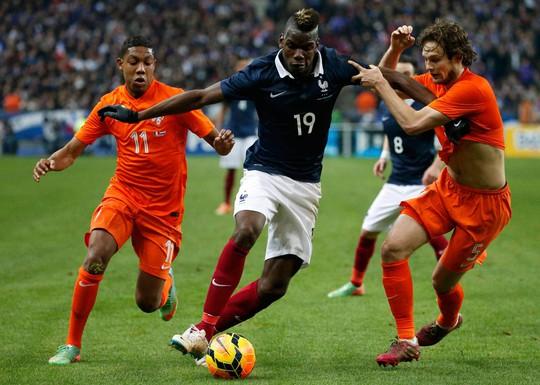 Ở trận giao hữu gần nhất, Pháp của Pogba (19) thắng chủ nhà Hà Lan 3-2 Ảnh: REUTERS