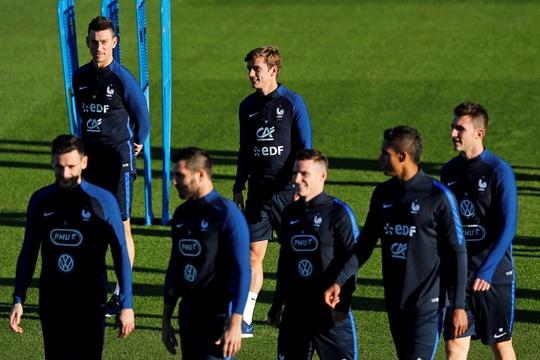 Tuyển Pháp tự tin sẽ giành 3 điểm trước BulgariaẢnh: REUTERS