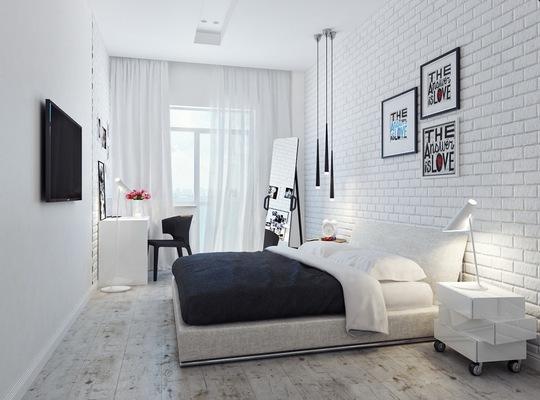 Nên chọn gạch lát sàn có hoa văn đơn giản, tạo cảm giác rộng rãi cho phòng ngủ