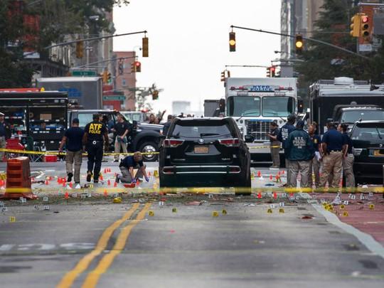 Hiện trường vụ nổ ở New York. Ảnh: AP