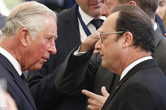 Các lãnh đạo thế giới tại lễ tang. Ảnh: AP