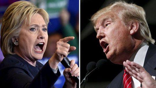 Bà Clinton và ông Trump đối chọi chan chát hiện nay... Ảnh: BBC