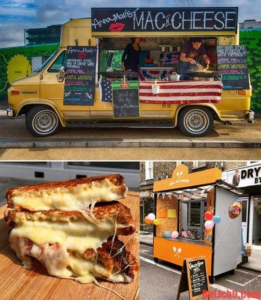 Tiệm ăn đường phố nổi tiếng nước Anh với món bánh Phômai