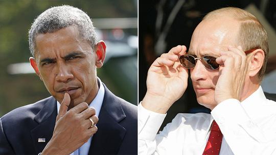 Tổng thống Mỹ Barack Obama và Tổng thống Nga Vladimir Putin. Ảnh: Reuters