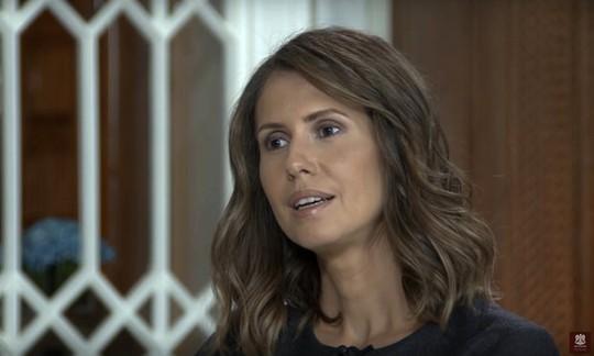 Đây là lần đầu tiên phu nhân của ông Assad trả lời phỏng vấn một đài truyền thông nước ngoài kể từ khi cuộc chiến nổ ra năm 2011. Ảnh: Rossiya 24