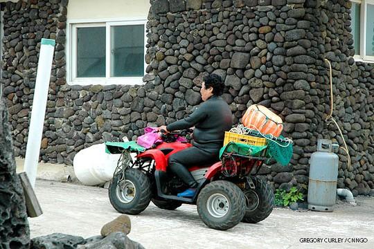 Chiếc xe mô tô này là phương tiện ưa thích của các Haenyo. Ảnh: CNN