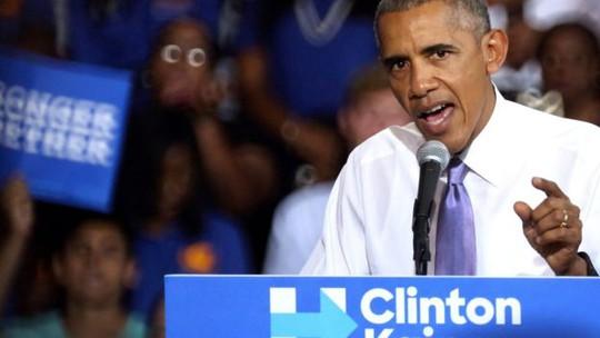 Tổng thống Mỹ Barack Obama cho rằng sự nhất quyết không chấp nhận kết quả bầu cử của ông Trump là rất nguy hiểm. Ảnh: EPA