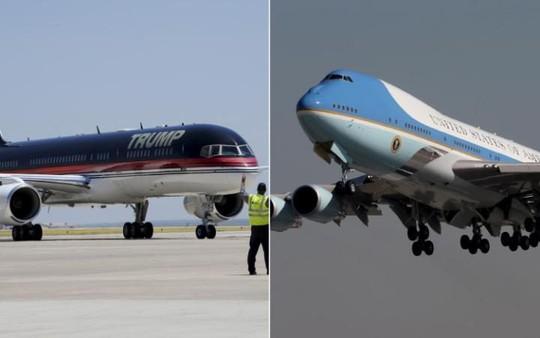 Trump Force One (trái) và Air Force One. Ảnh: THE TELEGRAPH