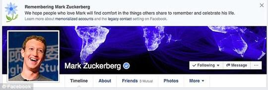 Mark Zuckerberg cũng là nạn nhân của lỗi kỳ thuật khiến hàng loạt chủ nhân tài khoản Facebook đang sống nhưng lại bị tưởng nhớ như đã chết!