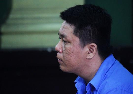 Bị cáo Nguyễn Phạm Ngọc Phước tại phiên tòa.