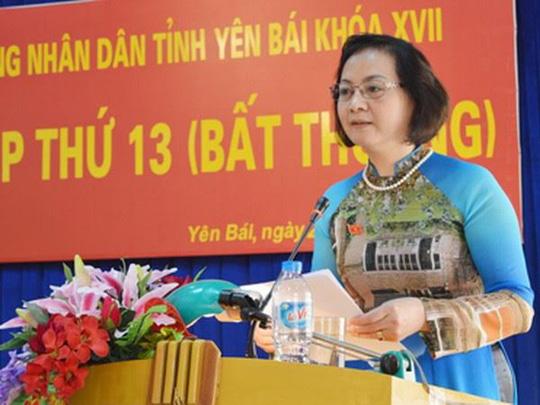 Tân Bí thư Tỉnh ủy Yên Bái Phạm Thị Thanh Trà - Ảnh: Cổng thông tin điện tử tỉnh Yên Bái