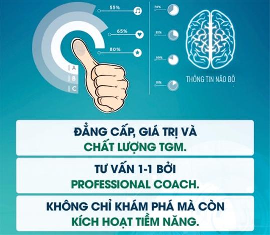 Một trang mạng quảng cáo dịch vụ phân tích tài năng, tương lai cho trẻ qua sinh trắc dấu vân tay.