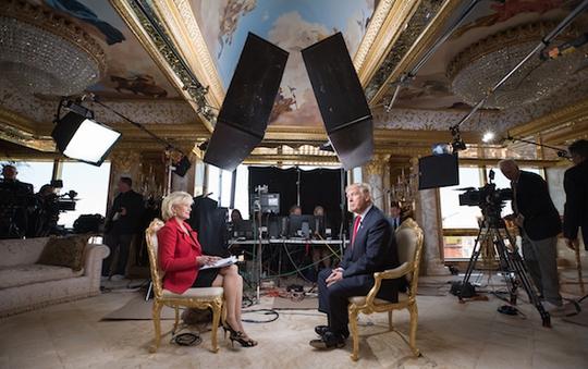 Tổng thống đắc cử Donald Trump trả lời phỏng vấn đài CBS Ảnh: CBS News