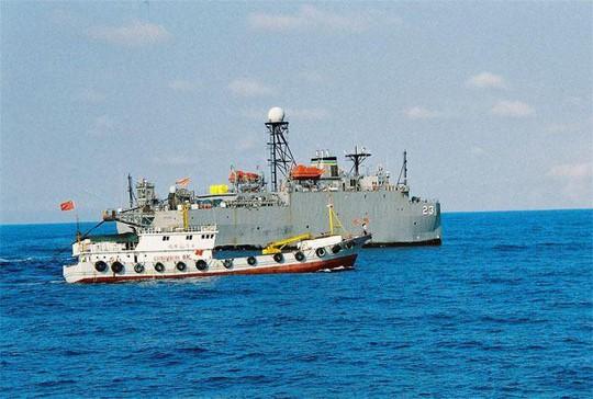 Một số tàu thuyền Trung Quốc dành thời gian tìm kiếm các tàu chống ngầm hay tàu thăm dò của Mỹ và Nhật. Ảnh: 163.COM