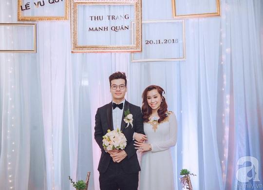 Cặp vợ chồng mới cưới Đỗ Quân - Thu Trang rạng rõ trong lễ vu quy.