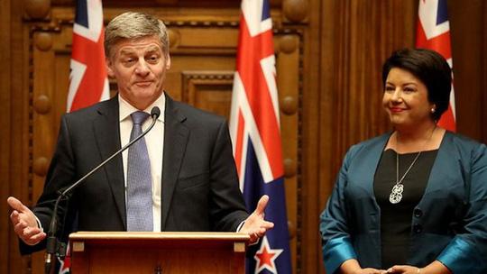 Tân Thủ tướng Bill English và Phó Thủ tướng Paula Bennett của New Zealand. Ảnh: FAIRFAX NZ