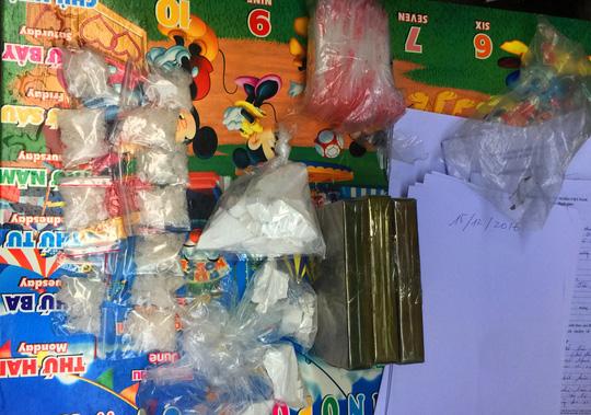 Số ma túy được lực lượng chức năng thu giữ.
