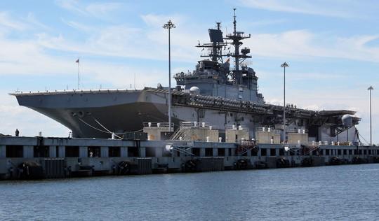 Ông Trump hứa hẹn mở rộng đội tàu của Hải quân Mỹ từ 290 chiếc hiện nay lên 350 chiếc. Ảnh: THE VIRGINIAN-PILOT