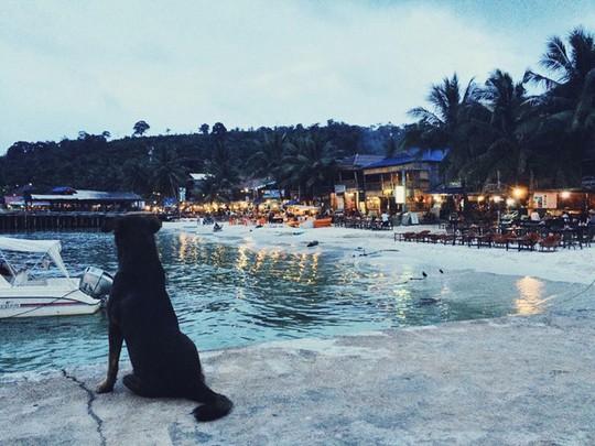 Xế chiều trên đảo Koh Rong.