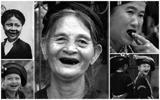 Hàm răng đen được coi là 1 trong những tiêu chuẩn cái đẹp thời xưa.
