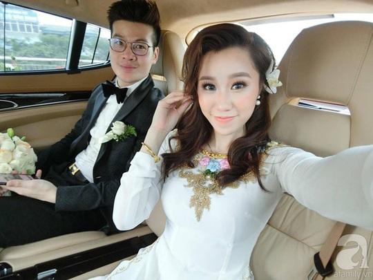 Ngay chiều hôm đó, Quân và Trang đã tổ chức tiệc cưới. Cặp đôi rất hài lòng về đám cưới của mìn