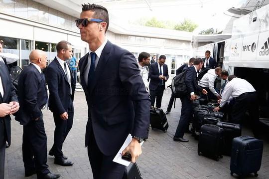 Ronaldo và đồng đội đã có mặt tại Dortmund