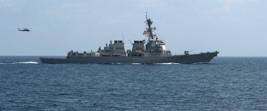 Tàu khu trục USS Mason của Mỹ. Ảnh: Reuters