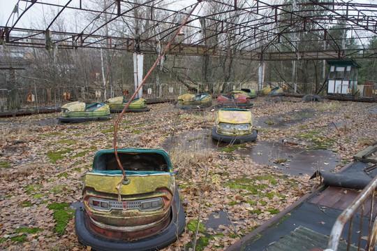 Một công viên ở TP Pripyat. Ảnh: Reddit