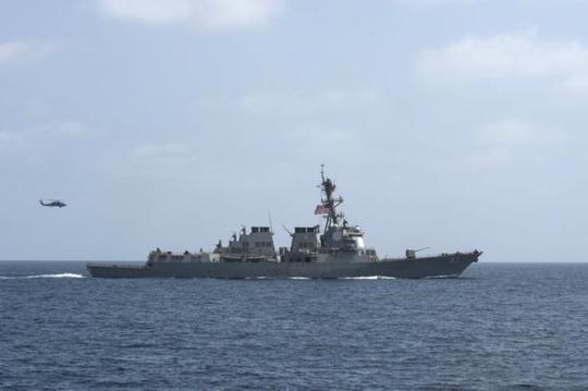 Tàu khu trục USS Mason. Ảnh: REUTERS