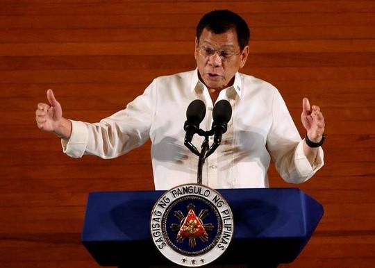 Tổng thống Duterte. Ảnh: Reuters