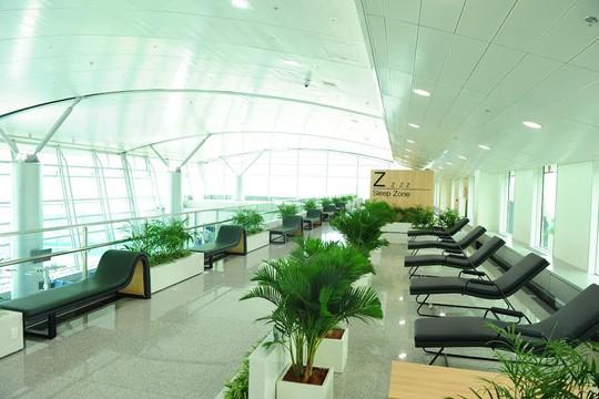 Một góc nhà ga quốc tế vừa được mở rộng sân bay Tân Sơn Nhất