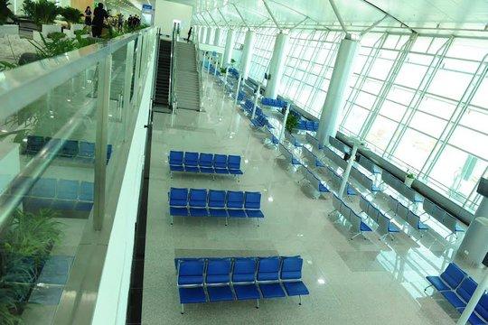 Sảnh chờ tại nhà ga quốc tế mở rộng