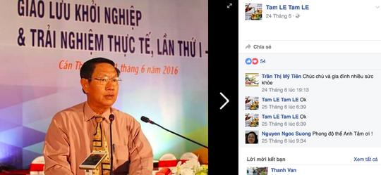 Trang Facebook mạo danh ông Lê Văn Tâm.
