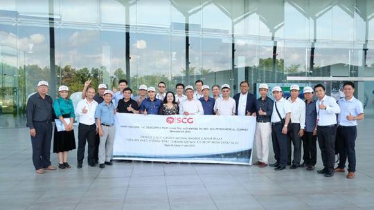 Đoàn lãnh đạo TP Vũng Tàu đến thăm Tổ hợp hóa dầu SCG nằm trong khu công nghiệp Map Ta Phut