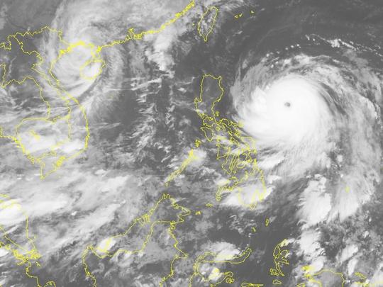 Ảnh mây vệ tinh siêu bão Haima với mắt bão rất rõ-Nguồn: Trung tâm Dự báo khí tượng thủy văn Trung ương