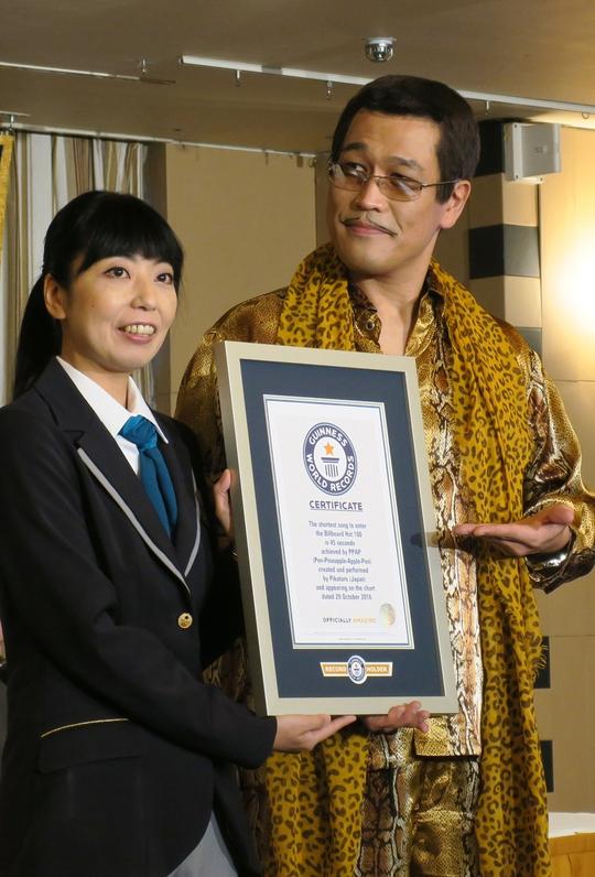 Piko - Taro nhận giấy chứng nhận kỷ lục