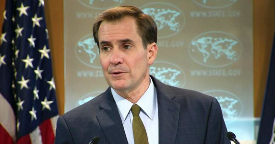 Người phát ngôn Bộ Ngoại giao Mỹ John Kirby cảnh báo Nga ngừng hành động bạo lực ở Syria. Ảnh: daily pakistan