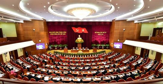 Hội nghị lần thứ IV BCHTW Đảng khóa XII - Ảnh: VPG