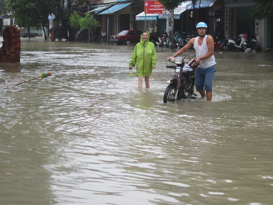 Đường Nguyễn Trãi (TP Tuy Hòa) trở thành sông