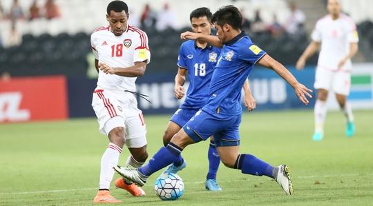 Thái Lan nếm thất bại thứ ba liên tiếp ở vòng loại cuối World Cup 2018 khu vực châu Á