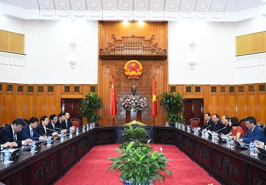 Thủ tướng Nguyễn Xuân Phúc tiếp Ủy viên Quốc vụ, Bộ trưởng Công an Trung Quốc Quách Thanh Côn