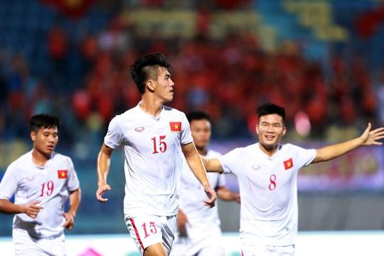 Tiến Linh (15) và các tuyển thủ U20 Việt Nam đang quyết tâm tạo bất ngờ tại VCK U20 thế giới vào tháng 5-2017 Ảnh: Hải Anh