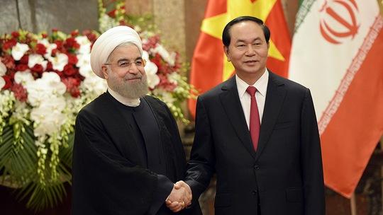 Chủ tịch nước Trần Đại Quang tiếp Tổng thống Iran Hassan Rouhani