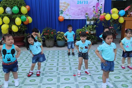 Trẻ đang theo học mầm non tại địa bàn quận Thủ Đức, TP HCM