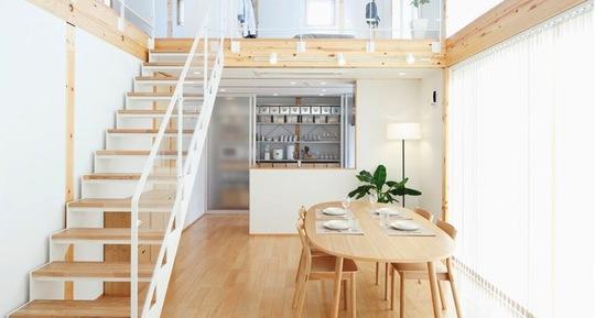 Nội thất gỗ, sàn gỗ được sử dụng phổ biến trong nhà của người Nhật.