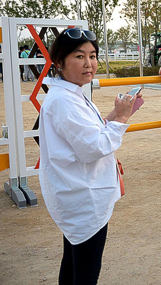Bà Choi Soon-sil lúc còn ở Seoul tháng 9-2014 Ảnh: SisaIN