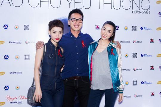 Từ trái qua: Trà My, Quang Tuyến, Tăng Thanh Hà