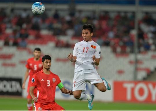 Trần Thành trong trận thắng Bahrain.Ảnh: AFC