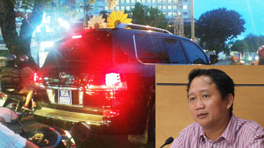 Nhưng sau khi chuyển vào Hậu Giang theo ông Trịnh Xuân Thanh thì được ông Võ Chí Thanh ký cấp biển xanh. Ảnh Internet